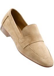 Lederslipper, bpc selection, hellbeige