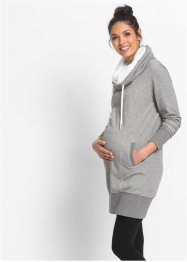 Umstands-Sweatkleid, bpc bonprix collection, grau meliert