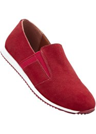 Velourslederslipper, bpc selection, rot