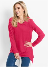 Zipfel-Sweatshirt, Langarm, bpc bonprix collection, hibiskuspink