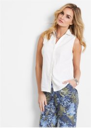 Leinen Bluse, bpc selection, weiss