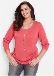 Pullover mit Knopfleiste, bpc selection, hellpink