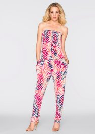 Jumpsuit, BODYFLIRT boutique, rot/weiss gemustert