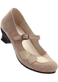 Bequemer Lederriemchenpumps, bpc selection, beige