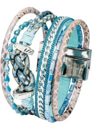 mehrreihiges Armband, bpc bonprix collection, silberfarben/blau