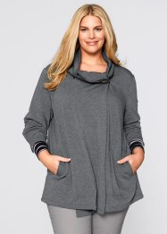 Gilet sweat asymétrique, bpc bonprix collection