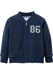 Baby Fleecejacke, bpc bonprix collection, dunkelblau/grau