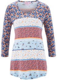 Patchwork- Shirt mit Blumenprint - designt von Maite Kelly, bpc bonprix collection, weiss geblümt