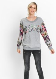 Sweat-shirt à imprimé floral, RAINBOW