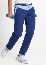 Jogginghose, lang, bpc bonprix collection, mitternachtsblau meliert