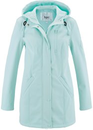 Parka longue softshell, bpc bonprix collection, menthe pastel