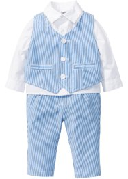 Baby Hemd + Weste + Hose (3-tlg. Set), bpc bonprix collection