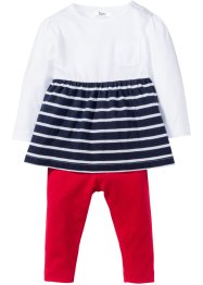 Baby Kleid + Leggings (2-tlg. Set) Bio-Baumwolle, bpc bonprix collection