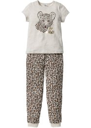 Pyjama (2-tlg. Set), bpc bonprix collection, naturmeliert