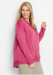 Oversize-Pullover, bpc bonprix collection, mediumpink