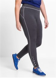 Funktions-Leggings, lang, bpc bonprix collection, schiefergrau meliert