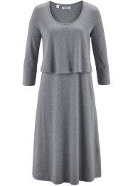 Robe style double épaisseur, bpc bonprix collection, gris chiné