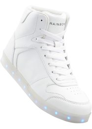 Sneaker mit LED- Sohle, RAINBOW, weiss