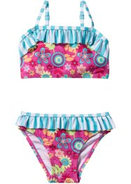 Bikini Mädchen (2-tlg. Set), bpc bonprix collection, pink/türkis