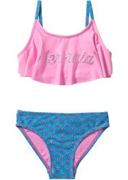 Bikini Mädchen (2-tlg. Set), bpc bonprix collection, türkis/pink
