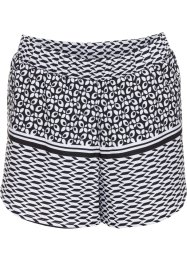 Short de bain, bpc bonprix collection, noir/blanc imprimé