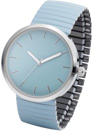 Montre à bracelet extensible, bpc bonprix collection, bleu clair