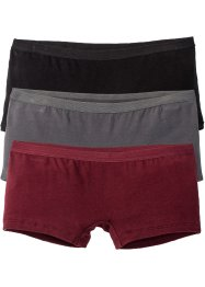 Panty (3er-Pack), bpc bonprix collection, schwarz/grau/bordeaux