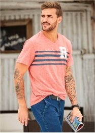 Melangeshirt Regular Fit, bpc selection, lachs meliert