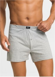 Lockere Boxer (4er-Pack), bpc bonprix collection, grau meliert