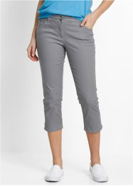 Pantalon extensible 3/4 avec lycra, bpc bonprix collection, gris