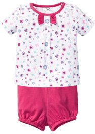 Baby T-Shirt + Shorts (2-tlg.) Bio-Baumwolle, bpc bonprix collection