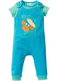 Baby T-Shirt + Strampler (2-tlg. Set) Bio-Baumwolle, bpc bonprix collection