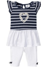 Baby Shirtkleid + Leggings (2-tlg.) Bio-Baumwolle, bpc bonprix collection