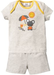 Baby T-Shirt + Shorts (2-tlg. Set) Bio-Baumwolle, bpc bonprix collection
