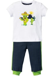 Baby T-Shirt + Sweathose (2-tlg. Set) Bio-Baumwolle, bpc bonprix collection