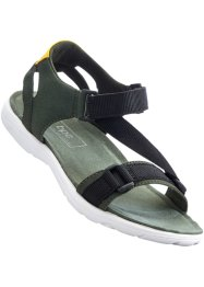 Sandales, bpc bonprix collection, olive/jaune/noir
