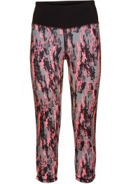 Legging sport longueur 3/4, bpc bonprix collection, saumon fluo/gris imprimé