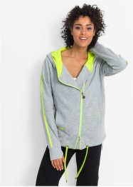 Gilet sweat-shirt long, bpc bonprix collection, gris clair chiné