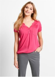 Shirtbluse, Kurzarm, bpc bonprix collection, pink