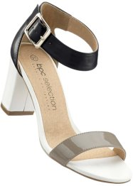 Sandalette, bpc selection, schwarz/weiss/taupe