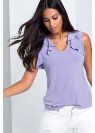 Top blouse à volants : MUST HAVE, BODYFLIRT, violet