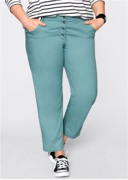 Pantalon chino 7/8 papertouch, ample, bpc bonprix collection
