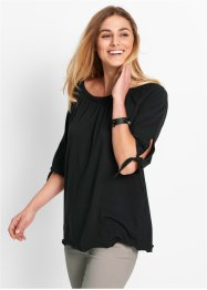 Carmen-Shirt, Halbarm, bpc bonprix collection, schwarz