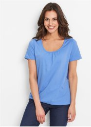 Shirt, Kurzarm, bpc bonprix collection, mittelblau
