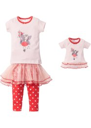 Pyjama + Puppennachthemd (4-tlg. Set), bpc bonprix collection