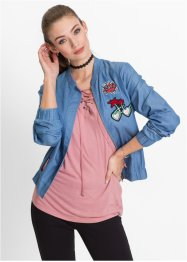 Bomberjacke mit Badges, RAINBOW