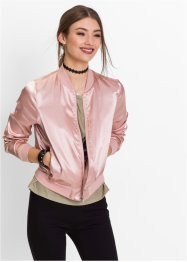Bomber satin, RAINBOW, rose vintage