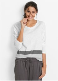 Langarmshirt, bpc bonprix collection, weiss gestreift