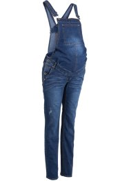 Umstands-Latzjeans, schmales Bein, bpc bonprix collection, blue stone