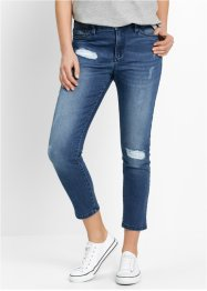7/8-Girlfriend-Jeans - designt von Maite Kelly, bpc bonprix collection, blue stone